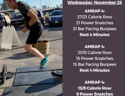 Tamalpais CrossFit WOD November 25 2020