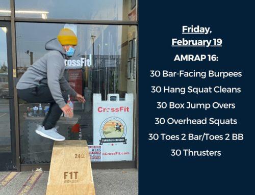Tamalpais CrossFit WOD February 19 2021