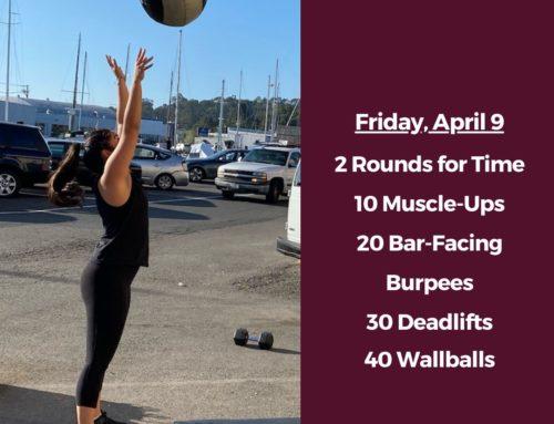 Tamalpais CrossFit WOD April 9 2021