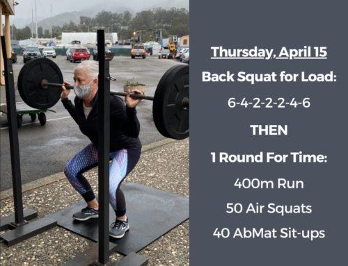 Tamalpais CrossFit WOD April 15 2021